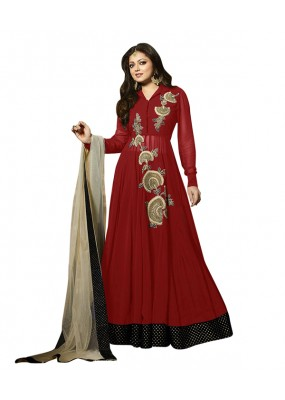 Eid Special Red Georgette Anarkali Suit -  70638