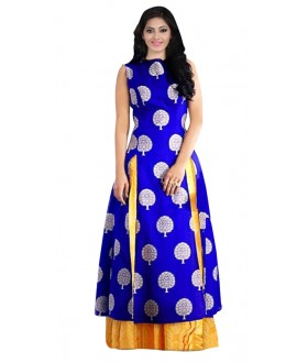 Bollywood Replica - Party Wear Blue & Yellow Lehenga Suit - 70685