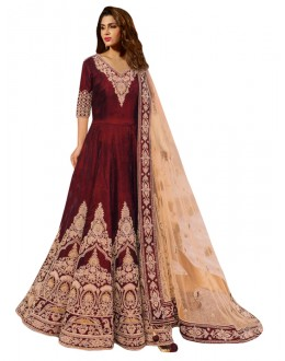 Bollywood Replica - Wedding Wear Maroon Anarkali Suit - 70699