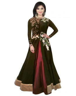 Bollywood Replica - Designer Black & Maroon Lehenga Suit - 70709