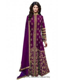 Bollywood Replica - Bridal Wear Purple Anarkali Suit - 70713
