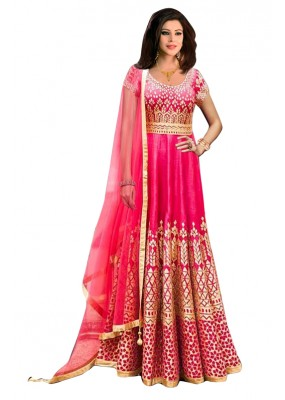Bollywood Replica - Traditional Pink Anarkali Suit - 70716