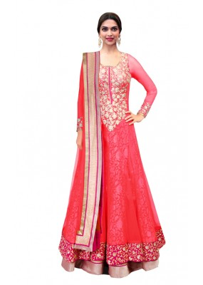 Bollywood Replica - Traditional Peach Anarkali Suit - 70747-C