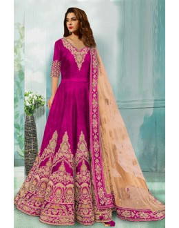 Bollywood Replica -Wedding Wear Pink Anarkali Suit - 70748-A-B