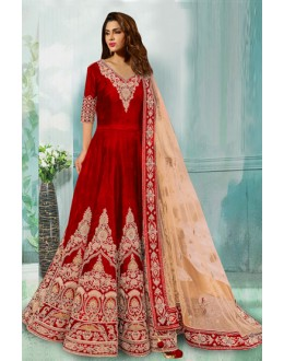 Bollywood Replica - Designer Red Anarkali Suit - 70748-D