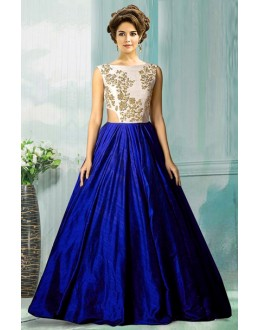Bollywood Replica - Ethnic Wear Blue Tat Silk Gown - 70750C