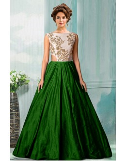 Bollywood Replica - Fancy Green Tat Silk Gown - 70750D