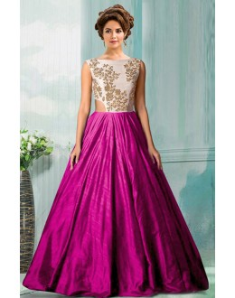 Bollywood Replica - Party Wear Pink Tat Silk Gown - 70750F