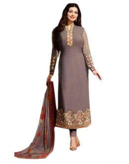 Ayesha Takia In Grey Georgette Salwar Suit  - 70972