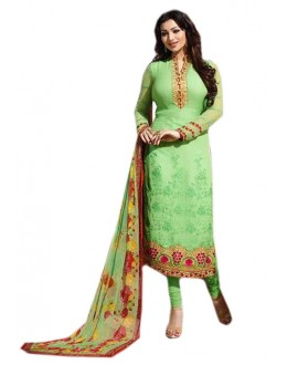 Ayesha Takia In Green Georgette Salwar Suit  - 70973