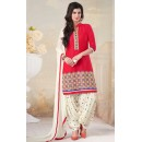 Festival Wear Red American Crepe Patiyala Suit  - 70758