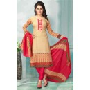 Office Wear Beige American Crepe Salwar Suit  - 70760
