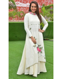Bollywood Replica - Sonakshi Sinha White Lehenga Suit - 70762