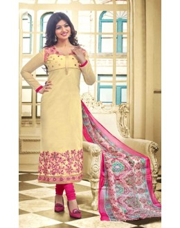 Ayesha Takia In Yellow & Pink Chanderi Salwar Suit  - 70853
