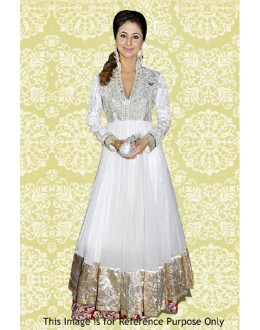 Bollywood Replica - Urmila Matodkar In White Anarkali Suit - 70875
