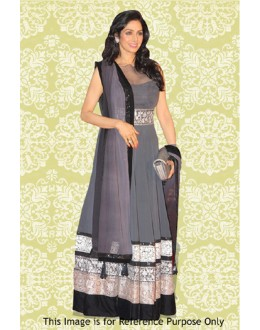 Bollywood Replica - Sridevi In Grey Anarkali Suit - 70876