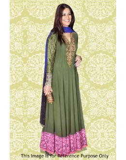 Bollywood Replica - Sonali Bendre In Green Anarkali Suit - 70883
