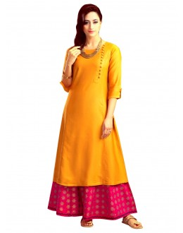 Bollywood Replica - Ethnic Wear Orange Tapeta Palazzo Suit - 70915