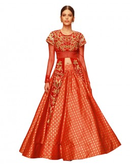 Bollywood Replica - Festival Wear Red Indo Western Suit - 70938