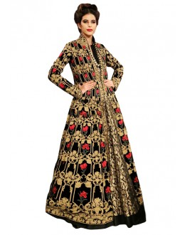 Bollywood Replica - Festival Wear Black Indo Western Suit - 70939