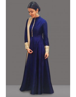 Bollywood Replica - Anushka Sharma In Blue Long Anarkali Suit  - 71087