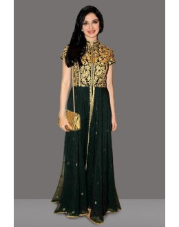 Bollywood Replica - Festival Wear Black Long Anarkali Suit  - 71094
