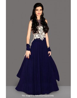 Bollywood Replica - Diana Penty In Blue Georgette Gown - 71095