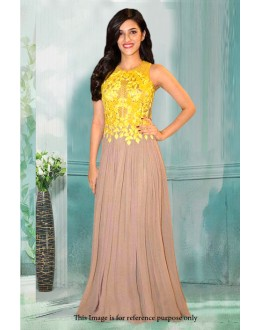Bollywood Inspired - Georgette Yellow & Cream Gown - 71199