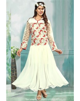 Bollywood Inspired - Georgette Off White Anarkali Suit - 71209