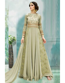 Party Wear 60 Gm Georgette Anarkali Suit  - 71176D