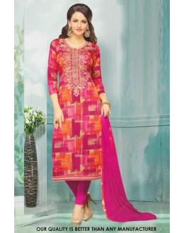 Festival Wear Multi-Colour Cotton Salwar Suit - 71218