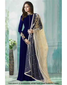 Fancy Blue Georgette Anarkali Gown - 71231C