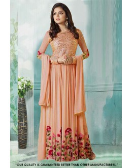 Festival Wear Peach Georgette Anarkali Gown - 71233C