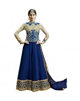 Blue Georgette Designer Anarkali Suit  - 71249