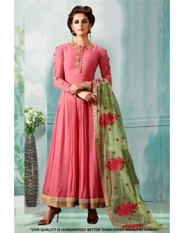 Festival Wear Pink Georgette Anarkali Suit  - 71276B