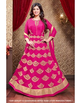 Ayesha Takia In Pink Faux Georgette Anarkali Suit  - 71306D