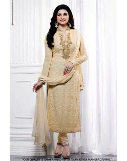 Prachi Desai In Cream Georgette Salwar Suit - 71314