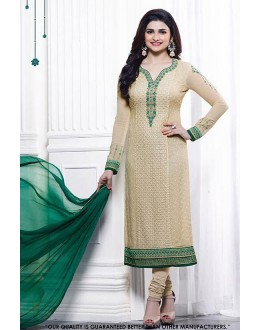 Prachi Desai In Cream Georgette Salwar Suit - 71321