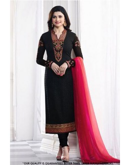 Prachi Desai In Black Georgette Salwar Suit - 71322