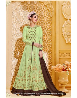 Wedding Wear Green Georgette Lehenga Suit - 71385