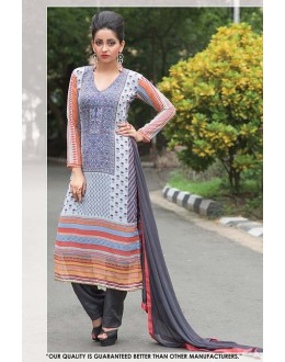 Ethnic Wear Multi Colour Georgette Salwar Suit - 71395
