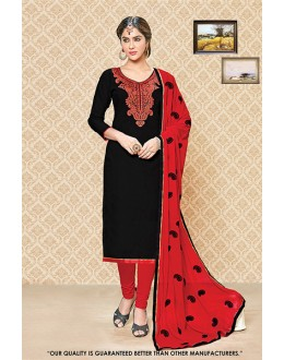 Ethnic Wear Black Cambric Cotton Salwar Suit - 71401
