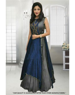 Festival Wear Grey Banglori Gown - 71307E