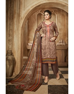 Festival Wear Coffee Rayon-Modal Salwar Suit - 71428