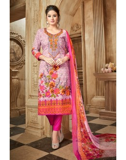 Traditional Wear Multi Colour Rayon-Modal Salwar Suit - 71432
