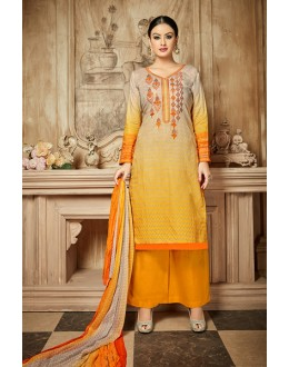 Ethnic Wear Yellow Rayon-Modal Salwar Suit - 71433