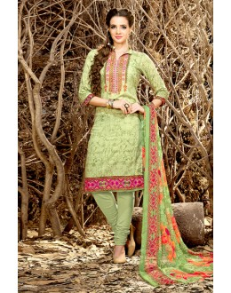 Wedding Wear Green Rayon-Modal Salwar Suit - 71440