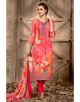Festival Wear Multi-Colour Rayon-Modal Salwar Suit - 71441
