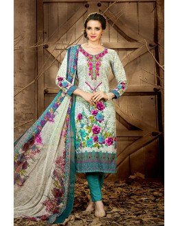 Casual Wear Multi-Colour Rayon-Modal Salwar Suit - 71443