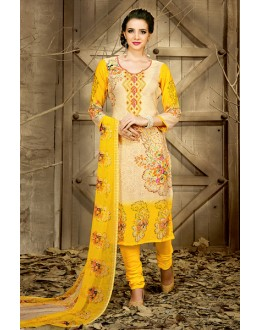 Festival Wear Multi-Colour Rayon-Modal Salwar Suit - 71445